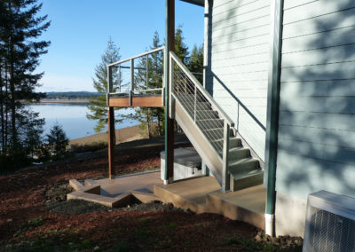 Lake deck view and staircase
