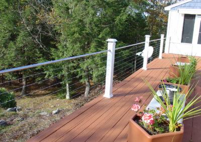 Woodland deck view