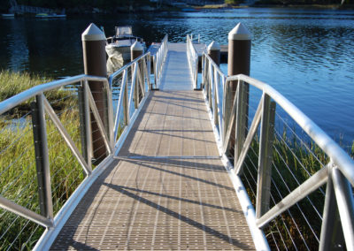 Lake dock design