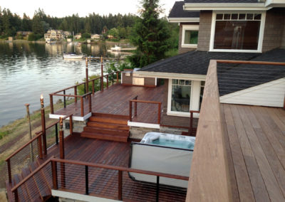 Lake deck sophistication