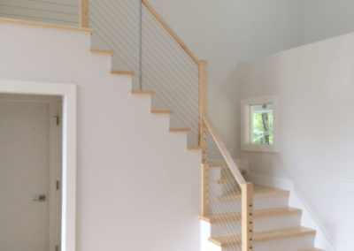 Indoor stainless steel cable staircase